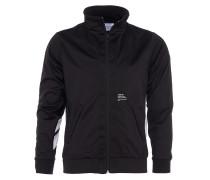 Trainings-Jacke mit Streifen-Details in Schwarz