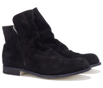 BUBBLE Veloursleder Boots in Schwarz