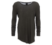 langes Longsleeve in Rippstrick-Optik in Olivegrün