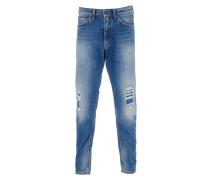 DEEP Jeans Used-Look in Blau