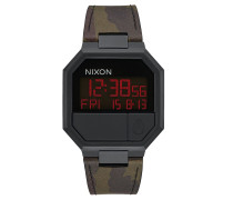 RE-RUN LEATHER Armbanduhr in Camouflage-Muster