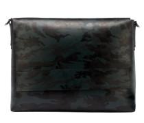Messenger Bag mit Camouflage-Print Schwarz