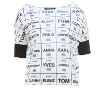 FASHION BRANDS kurzes T-Shirt mit Print Weiß