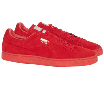 SUEDE CLASSIC MONO RED ICED Sneakers aus Velours-Leder Rot