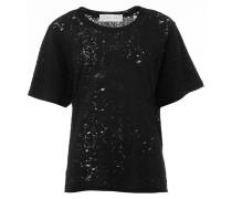 SIJAE T-Shirt Punk Chic in Schwarz