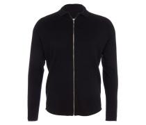 DODGE Feinstrick-Jacke mit Zipper in Schwarz