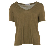 T by Alexander Wang T-Shirt mit Brusttasche in Khaki