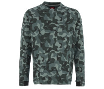 TECH FLEECE CREW Sweater Green Camouflage