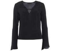 SEVILLE Bluse mit ausgestellten Ärmeln Schwarz