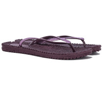 CHEERFUL Glitter Flip Flops in Violett