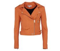 ASHVILLE kurze Lederjacke im Biker-Stil in Orange