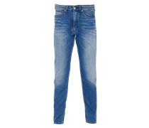 DEEP Jeans mit heller Waschung in Blau