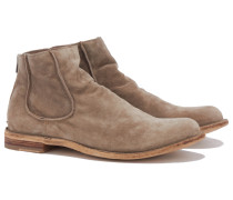 IDEAL/021 Veloursleder Boots in Sand