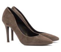 Veloursleder Pumps in Taupe