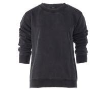 Sweatshirt mit Rundhals in Grau