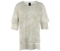 MTS277 long Layer-Sweatshirt in Hellgrau