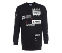 FRAKTAL Sweater mit Reißverschluss in Schwarz