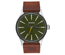 SENTRY LEATHER Armbanduhr in Braun