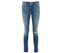 LOOKER ANKLE FRAY Hipster Jeans in Blau