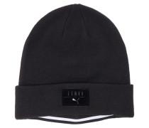 Strick-Mütze in Schwarz