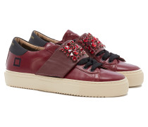 DATE NEWMAN L BORD STRAP STONES Sneakers in Weinrot