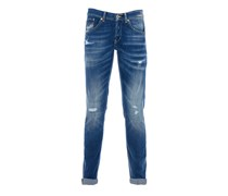 RITCHI Jeans Used-Look in Blau