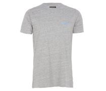 FLINTLOCK T-Shirt mit Print in Grau meliert