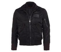 Jacke mit Doppel-Verschluss in Schwarz