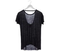 WTS231 T-Shirt mit Cut-out in Schwarz