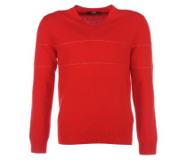 ERISWELL Feinstrick-Pullover Rot mit Streifen