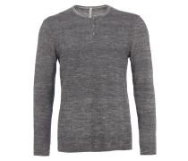 Sweatshirt in Melange-Optik in Grau