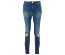 NEVADA Slim Fit Jeans Distressed Style Indigo Blue