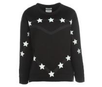 Neopren Pullover mit Sternen Schwarz