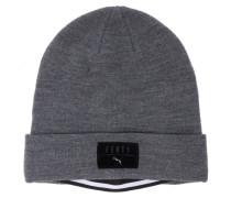 Strick-Mütze in Grau
