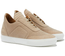 Low Top Sneakers perforiert in Beige