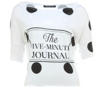 5MINUTES kurzes T-Shirt mit Print Weiß
