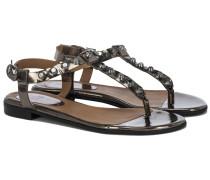 192 Sandalen mit Nieten Metallic