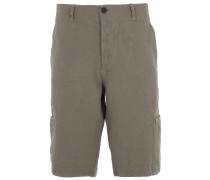 Bermuda Shorts aus Leinen in Khaki