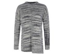 KORBIN Strick-Pullover in Grau-Weiß