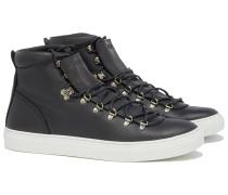 MAROSTICA MID BLACK NAPPA Sneakers in Schwarz