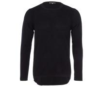 PATRICE Feinstrick-Pullover in Schwarz