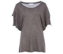 FIBIE T-Shirt mit Layer-Sleeves in Grau