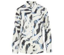 KAROLINA Bluse mit Zebra-Print Weiß