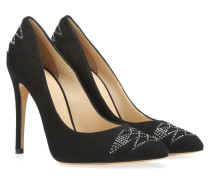 'Kitty' Wildleder Pumps mit Strassbesatz