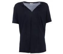 TAMI T-Shirt mit Schnür-Detail in Dark Navy