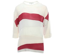 Oversize Shirt mit Streifeneinsätzen Rose