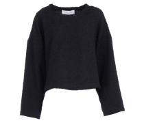 ILVIE Pullover in Tweed-Optik Schwarz