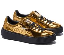 BASKET PLATFORM METALLIC Sneakers in Gold