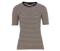 SARINA T-Shirt Rundhals in Schwarz-Weiß gestreift