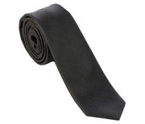 SLIM TIE Krawatte Musterung in Schwarz